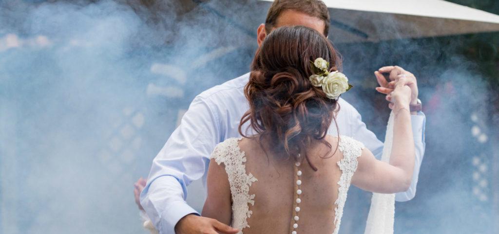 сватбено осветление и пушек машини